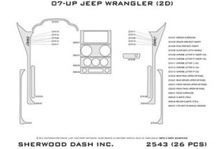 2010 Jeep Wrangler Wood Dash Kits   Sherwood Innovations 2543 R   Sherwood Innovations Dash Kits