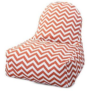 Majestic Home Goods Indoor/Outdoor Chevron Polyester Kick It Bean Bag Chair, Burnt Orange