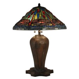 Radionic Hi Tech Nevaeh 26.50 in. Bronze Hand Rolled Art Glass Table Lamp DT_TL_TT15107_RHT