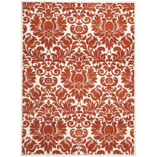 Safavieh Porcello Damask Ivory/ Red Rug (6 7 x 9 6)   15127752