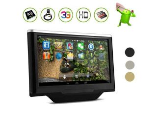 BEST 10.1 Inch CAPACITIVE Touchscreen Android 4.1 Car Headrest 3G/WiFi Internet Audio Video Radio Stereo Player Monitor None DISC DVD Vehicle Pillow Rear Seat Entertainment 2 Core CPU Tablet PC Blueto