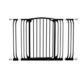 Dreambaby Chelsea 40 in. H Extra Tall Auto Close Security Gate in Black with Extensions L792B