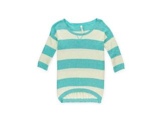 Aeropostale Womens Striped Ribbed Knit Sweater 487 L