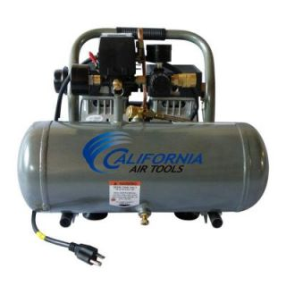 California Air Tools 1.6 Gal. 1/2 HP Ultra Quiet and Oil Free Aluminum Tank Air Compressor 1650A