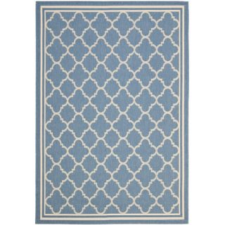 Safavieh Courtyard Blue & Beige Area Rug