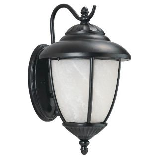 Sea Gull 1 Light Outdoor Wall Lantern   Black