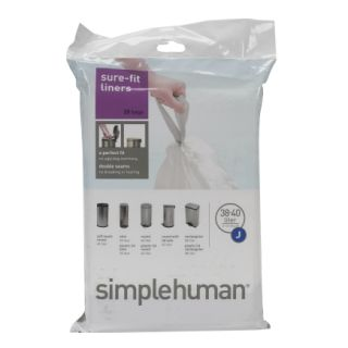 simplehuman® 40LTrash Can Liners (CW0169)   Trash Bags & Holders