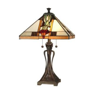 Radionic Hi Tech Tentelle 26.00 in. Bronze Hand Rolled Art Glass Table Lamp DT_TL_TT10533_RHT
