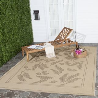 Safavieh Indoor/ Outdoor Ferns Natural/ Brown Rug (710 x 11