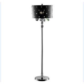 OK 59 in Polished Chrome Torchiere with Side Light Indoor Floor Lamp with Acrylic Shade