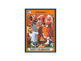 Autograph Warehouse 96841 Safety Celebration Football Card Clemson 1990 Collegiate Collection No. 142