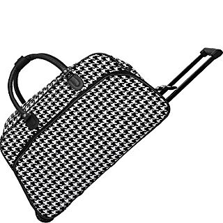 World Traveler Houndstooth 21 Rolling Duffel Bag