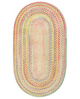 Capel Rugs, Cutting Garden Oval Braid 0450 150 Buttercup   Lighting