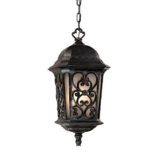 Acclaim Lighting Manorgate Collection Hanging Lantern 4 Light Outdoor Marbelized Mahogany Light Fixture DISCONTINUED 526MM