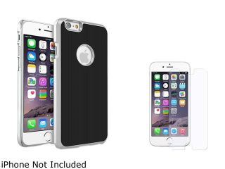 Insten Black Brushed Aluminum Case Cover with Anti Glare Screen Protector for Apple iPhone 6 (4.7 inch) 2002614