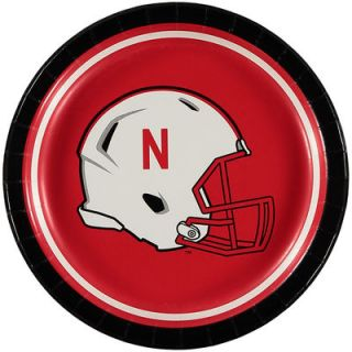 Nebraska Cornhuskers 8 Pack Lunch Plate Set