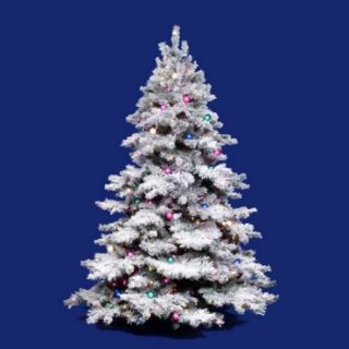 Vickerman Flocked Alaskan Multi Pre lit Christmas Tree   Mini Lights