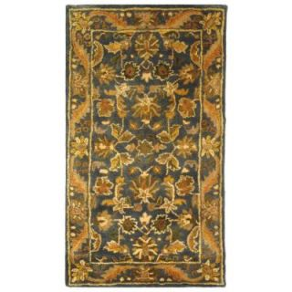 Safavieh Antiquity Blue/Gold 3 ft. x 5 ft. Area Rug AT52C 3