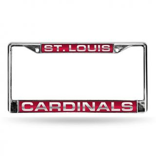 Red Laser Chrome License Plate Frame   St. Louis Cardinals   7574740