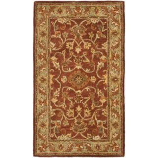 Safavieh Golden Jaipur Rust/Green 3 ft. x 5 ft. Area Rug GJ250E 3
