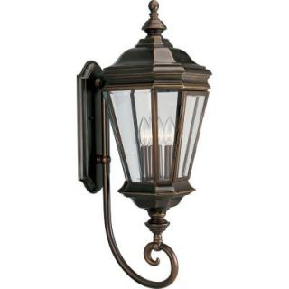 Progress Lighting Crawford Collection 3 Light Oil Rubbed Bronze Outdoor Wall Lantern P5672 108