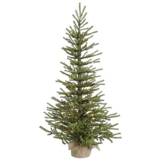 Vickerman 3.5 ft Pre Lit Slim Artificial Christmas Tree with White Clear Incandescent Lights