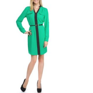 Miss Tina Women's Colorblock Shirt Dress