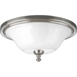 Progress Lighting P3326 09 Victorian Brushed Nickel  Flush Mount Lighting
