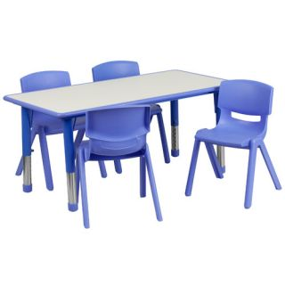 Flash Furniture 47.25 x 23.63 Rectangular Classroom Table
