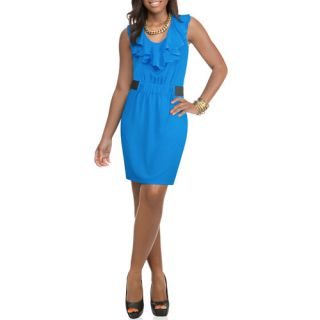 Miss Tina Women's Ruffled Elastic Waist Dress
