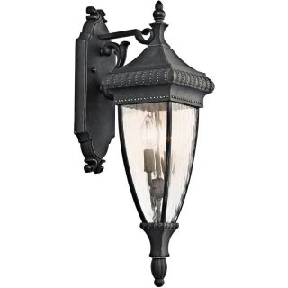 Kichler 49131BKG Venetian Rain Black/Gold  Outdoor Sconce Lighting