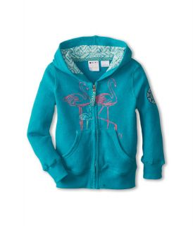 Roxy Kids New Light Zip Front Hoodie Toddler Little Kids Tile Blue, Blue