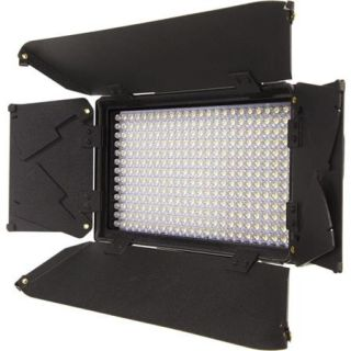 ILED312 SB iKan iKan iLED312 v2 On Camera Dual Color LED Spot Light with Digital Display, 312 LEDs Bulbs