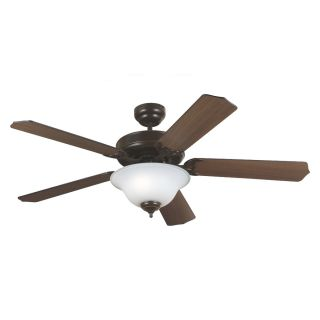 Sea Gull Lighting Quality Max Plus 52 in Heirloom Bronze Downrod or Flush Mount Ceiling Fan with Light Kit