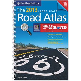 Rand McNally 2013 United States Road Atlas, Large Type, Soft Cover