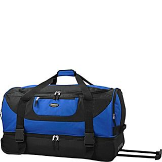 Travelers Club Luggage Adventure 30 2 Section Drop Bottom Rolling Duffel