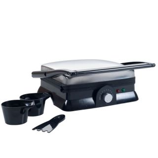 Chef Buddy Electric Dual Purpose Non stick Grill or Panini Press