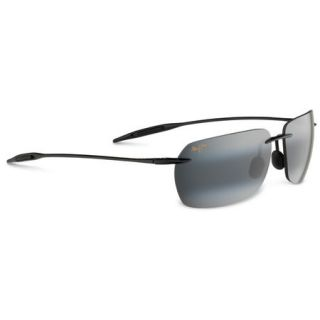 Maui Jim Banzai Sunglasses   Gloss Black Frame/Neutral Grey LenS