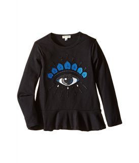 Kenzo Kids Alizea 1 Tee Shirt (Toddler/Little Kids) Black