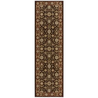 Nourison Persian Crown Dark Brown Rug Runner (22 x 76)   15696173