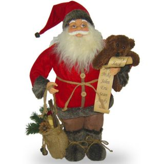 National Tree Co. Standing Santa Christmas Decoration