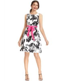 Jessica Howard Sleeveless Floral Print Dress
