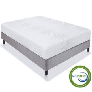 "Best Choice Products 10"" Dual Layered Memory Foam Mattress Queen CertiPUR US"