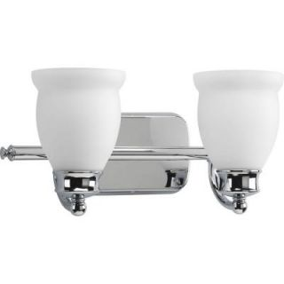 Progress Lighting Leeland Collection Polished Chrome 2 light Vanity Fixture DISCONTINUED P2994 15