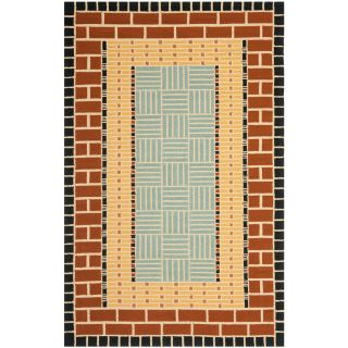 Safavieh Four Seasons Rectangular Brown Transitional Indoor/Outdoor Woven Area Rug (Common 8 ft x 10 ft; Actual 8 ft x 10 ft)
