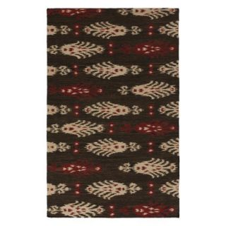 Surya FT 326 Flat Weave Area Rug   Chocolate / Beige