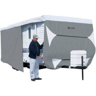 Classic Accessories PolyPRO 3 Travel Trailer & Toy Hauler Storage Cover, Grey