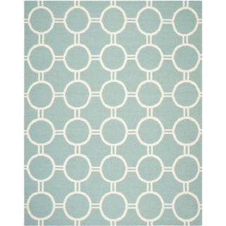 Safavieh Dhurries Light Blue/Ivory 8 ft. x 10 ft. Area Rug DHU636C 8