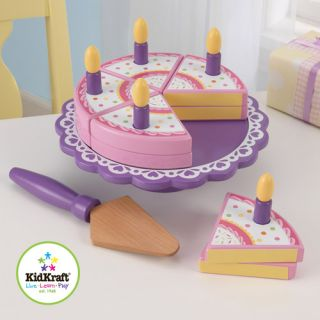 KidKraft Wooden Birthday Cake Set