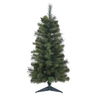 "Vickerman 24"" Unlit Classic Mixed Pine Artificial Christmas Tree with Plastic Stand"